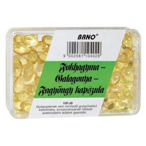 Bánó fokhagyma-galagonya-fagyöngy kapszula – 100 db