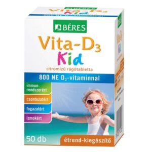 Béres Vita-D3 Kid 800NE rágótabletta - 50db