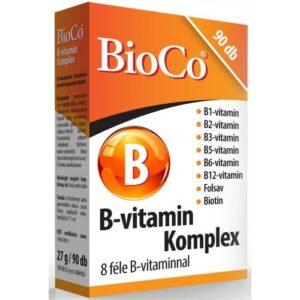 BioCo B-vitamin Komplex tabletta - 90db