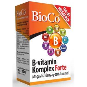 BioCo B-vitamin komplex forte tabletta – 100db