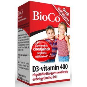 BioCo D3-vitamin 400 rágótabletta – 60db