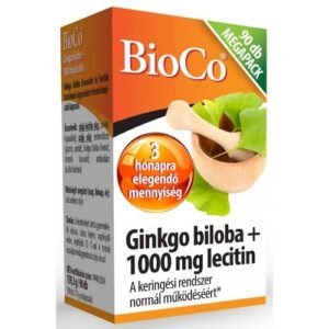BioCo Ginkgo Biloba + 1000mg Lecitin – Megapack – 90db