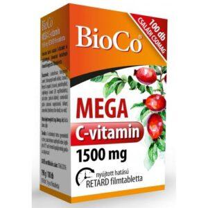 BioCo Mega C-vitamin 1500mg filmtabletta – 100db
