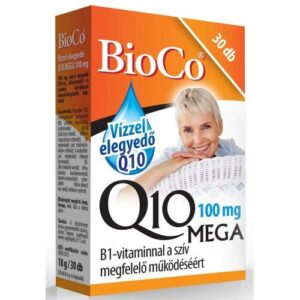BioCo Vízzel elegyedő Q10 MEGA 100mg – 30db