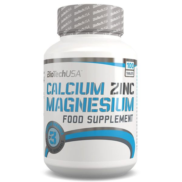 BioTech USA Calcium Zinc Magnesium tabletta – 100db