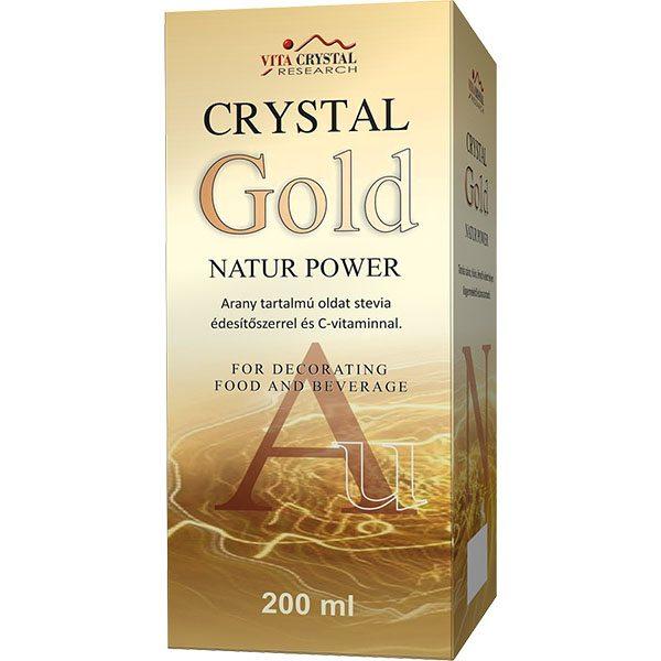 Crystal Gold Natur Power aranykolloid – 200 ml