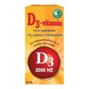 Dr. Chen D3-vitamin Forte rágótabletta – 60db