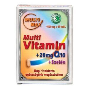 Dr. Chen Multimax vitamin + Q10 + Szelén tabletta – 40 db