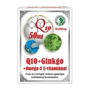 Dr. Chen Q10 + Ginkgo Biloba + Omega-3 + E-vitamin kapszula - 30db