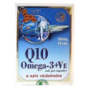Dr. Chen Q10 + Omega-3 halolaj + E-vitamin kapszula – 40db