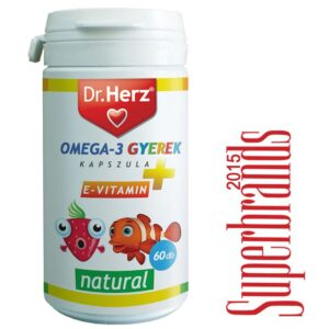 Dr. Herz Omega-3 500mg kapszula gyermekeknek – 60db