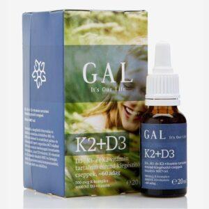 GAL K2 + D3-vitamin cseppek – 20ml
