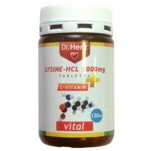 Dr. Herz Lysine 1000mg + C-vitamin tabletta – 60db