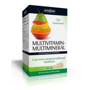 Interherb Multivitamin-Multiminerál+Q10 tabletta – 30db