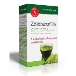 Interherb Zöldbúzafűlé extraktum kapszula – 30db