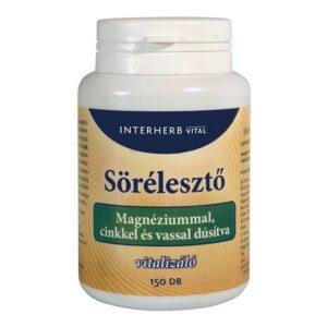 Interherb sörélesztő tabletta magnéziummal – 150db