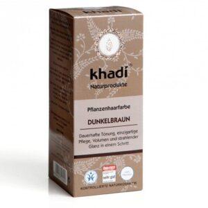 Khadi Hajfesték por – Sötétbarna – 100 g