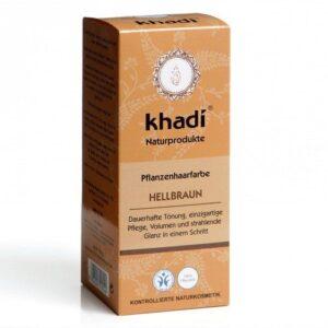 Khadi Hajfesték por – Világosbarna – 100 g