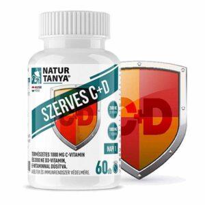 Natur Tanya Szerves C+D C-vitamin 1000mg + D-vitamin 2000NE tabletta – 60db