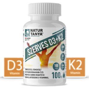 Natur Tanya Szerves D3+K2 vitamin tabletta - 100db