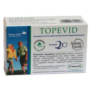 Topevid Q10 + Szelén + Pycnogenol kapszula – 30db