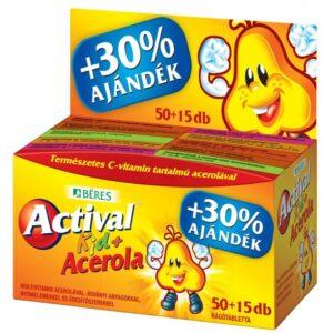 Béres Actival Kid + Acerola rágótabletta + ajándék – 50db
