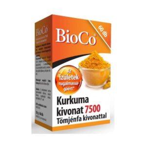 BioCo Kurkuma kivonat 7500mg Tömjénfa kivonattal tabletta – 60db