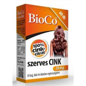 BioCo Szerves cink – 60db