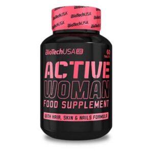 BioTech USA Active Woman multivitamin – 60 db tabletta