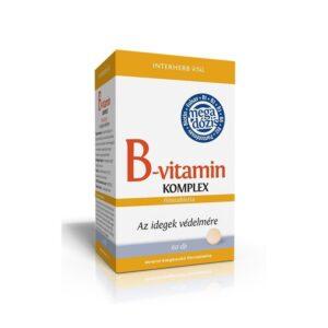 Interherb B-vitamin komplex tabletta – 60db