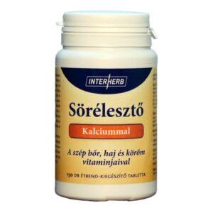 Interherb sörélesztő tabletta kálciummal - 150db