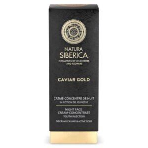 Natura Siberica Caviar Gold éjszakai arckrém-koncentrátum – 30ml