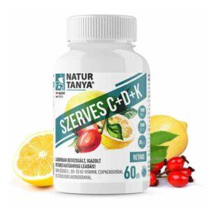Natur Tanya Szerves C+D+K2-vitamin tabletta
