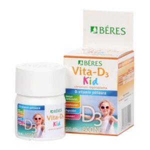 Béres Vita-D3 Kid 800NE rágótabletta – 50db