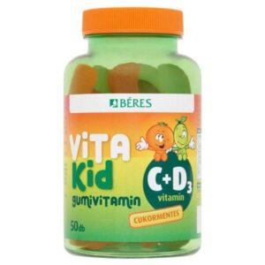 Béres VitaKid C+D3 gumivitamin – 50db