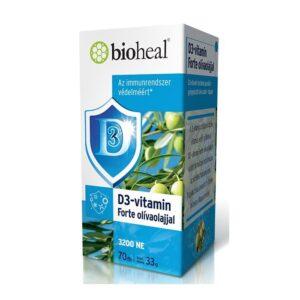 Bioheal D3-vitamin Forte olívaolajjal lágyzselatin kapszula – 70db